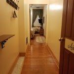 open door to hotel room