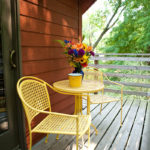 yellow table and chairs