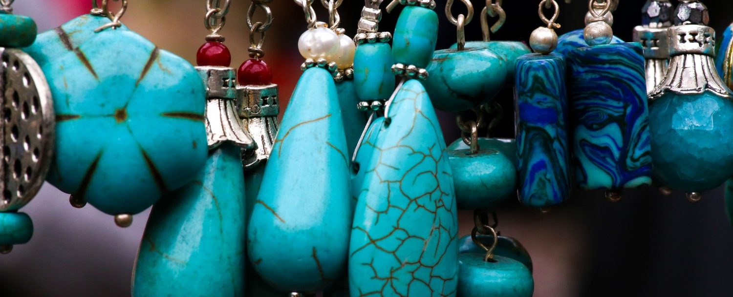 Turquoise stone and silver Jewelry pendants