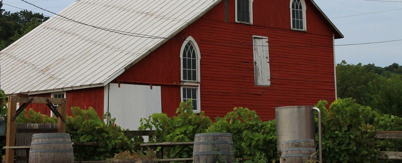 view of galena cellars barn