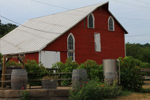 view of galena cellars barn
