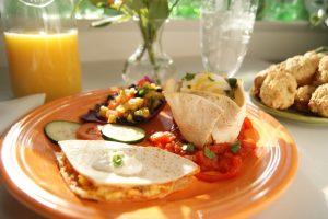 Breakfast tortilla on a plate