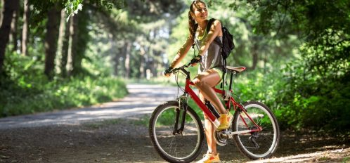 best time to visit galena, girl riding bike