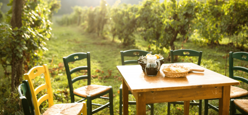 outdoor dining galena , vineyard